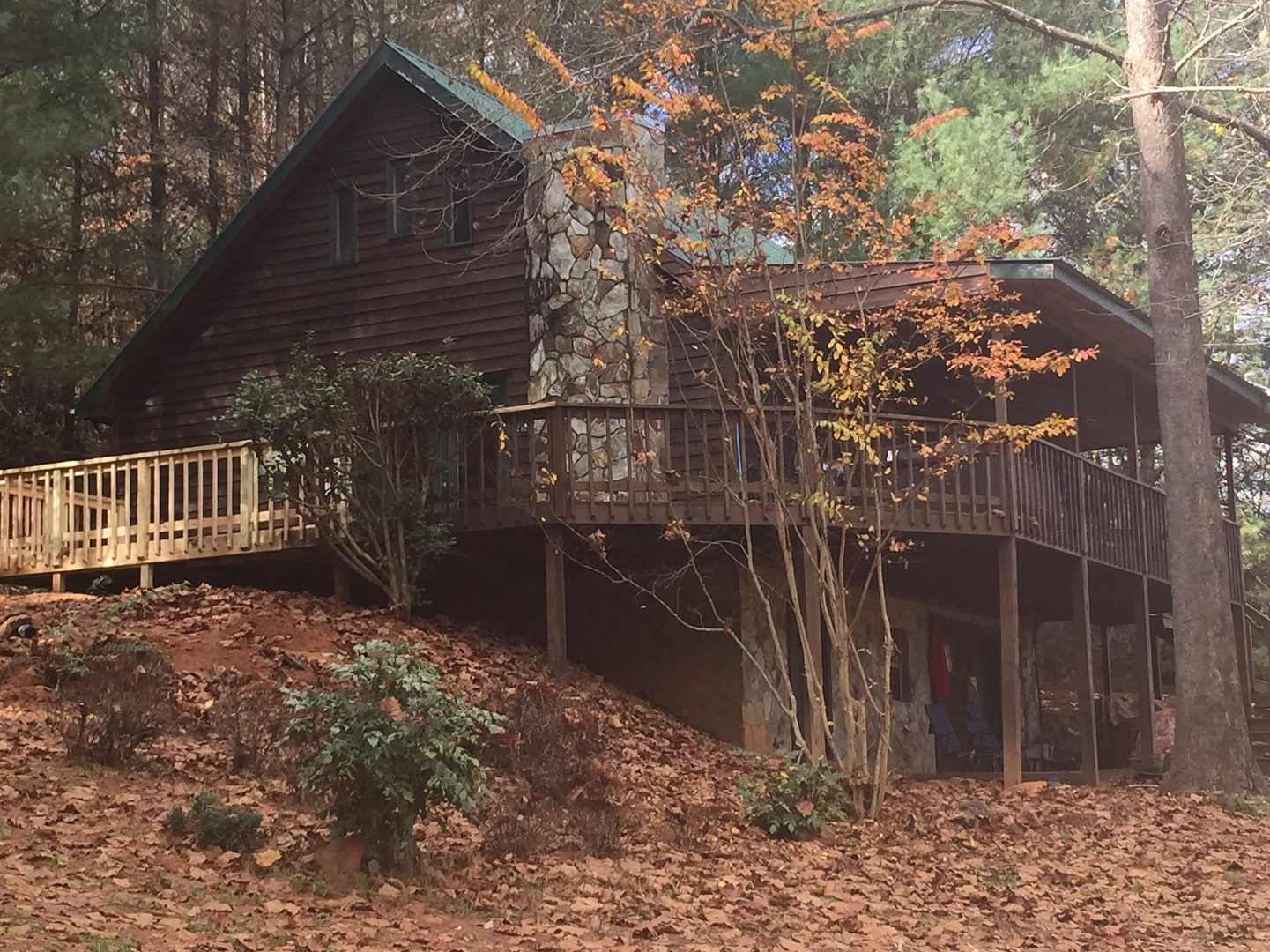 Ocoee river cabin rental 2br 2ba with river access and for Fishing cabin rentals