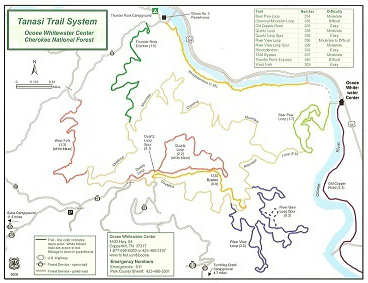Tanasi Trail System in Blue Ridge Mountains