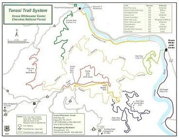 Tanasi Trail System in Blue Ridge Mountains