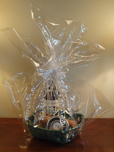 Wine and Cheese Gift Baskets for our cabin rental guests